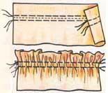(рис. 2)Двойной стачной шов(машинная строчка)