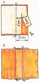 (рис. 4)Ложный шов в «замок»