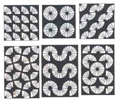 (рис.3)Лоскутные полотна, собранные из блоков с узором «Веер»