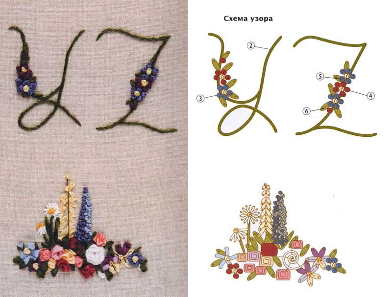 Схемы вышивки узелком 2